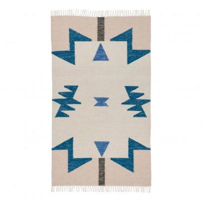 Ferm Living Alfombra Kelim - Triángulos azules - 80x140 cm-product
