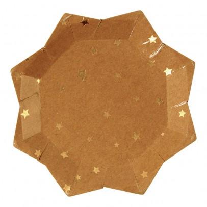 Meri Meri Assiette en carton craft étoile - Lot de 8-listing