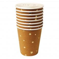 Meri Meri Vasos de cartón craft estrellas - Lote de 8-listing