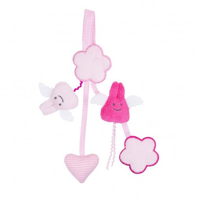 Trousselier Pink Rattle Pacifier Clip-product