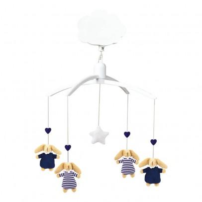 Trousselier Giostrina musicale coniglio nido d'angelo blu marine-listing