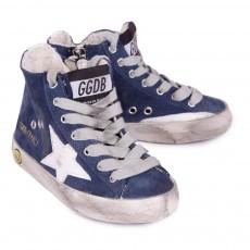Golden Goose Baskets Zippée Suede Francy-listing