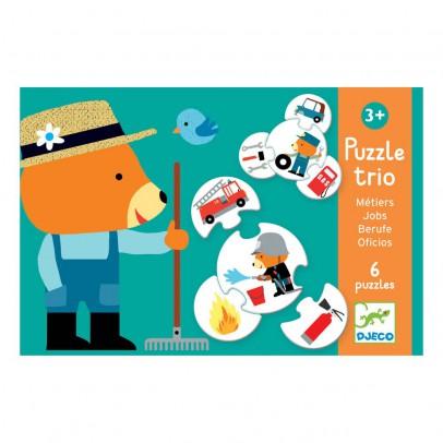 Djeco Puzzle trio métiers-listing