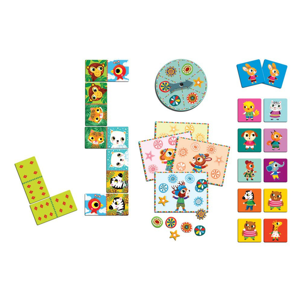 Djeco Bingo Memo Domino - Les p'tits copains-product