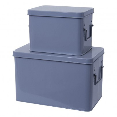 Present Time Metal Storage Boxes - Set of 2-product