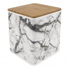 Present Time Boîte de rangement carré effet marbre-listing