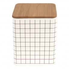 Present Time Boîte de rangement carré Grid-listing