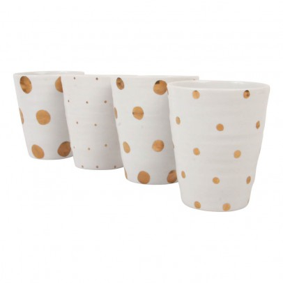 Klevering Gold Dots Cups - Set of 4-listing