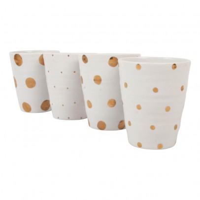 Klevering Tasses pois dorés - Set de 4-listing