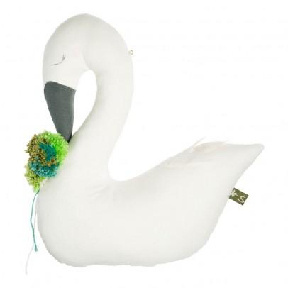 Scalaë Oiseau décoratif Swan avec pompom-listing