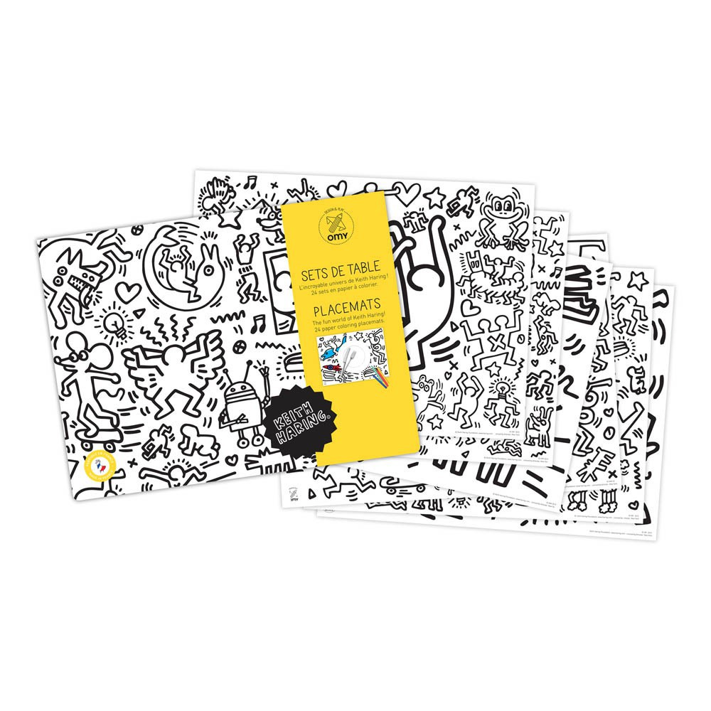Keith Haring Table Colouring Set-product
