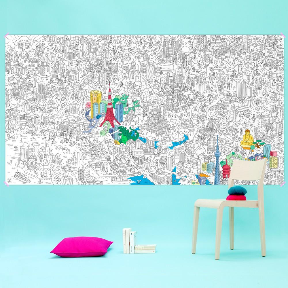Imagen gigante para colorear Tokyo-product