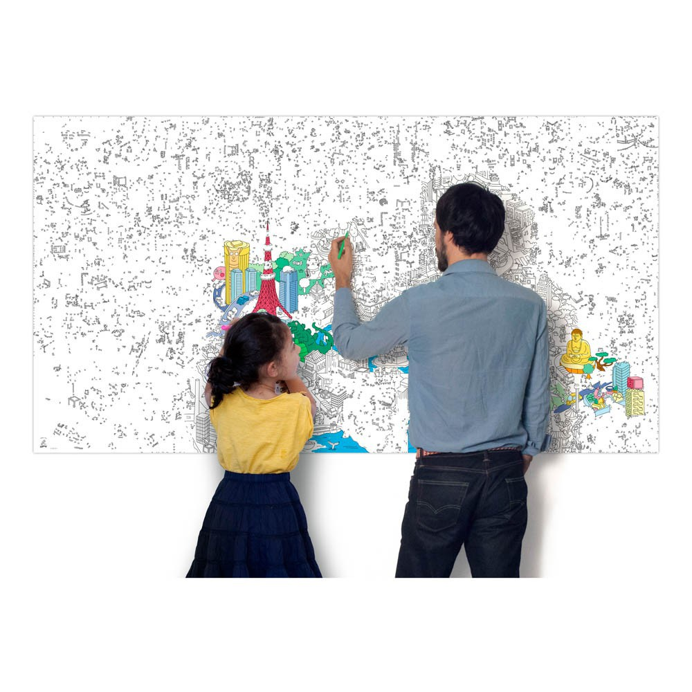 Omy Tokyo Giant Colouring-in Poster-product
