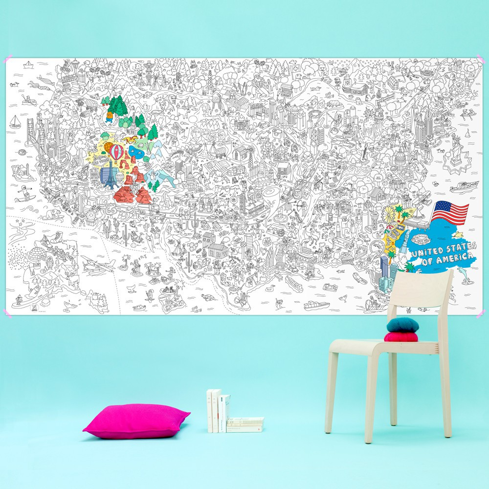 USA Giant Colouring-in Poster-product