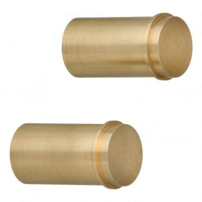 Ferm Living Brass Coat Hooks - Set of 2-product