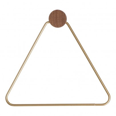 Ferm Living Triangle Brass Coat Hooks-product