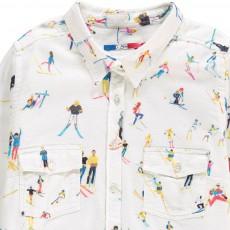G.KERO Camicia Tasche Sciatori Stars A Ski-listing