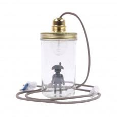 La tête dans le bocal Playmobil jar desk lamp-listing