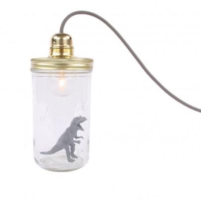 La tête dans le bocal Lampada barattolo da appoggiare dinosauro-listing