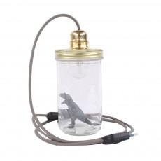 La tête dans le bocal Glaslampe Dinosaurier -listing
