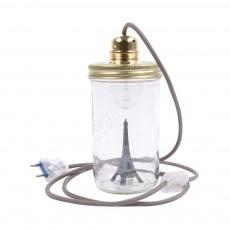 La tête dans le bocal Lámpara tarro para posar Torre Eiffel-listing