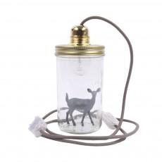 La tête dans le bocal Lámpara tarro para posar Bambi-listing