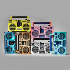 Berlin Boombox Enceinte façon Ghetto blaster 3.0 avec port USB-listing