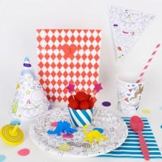 Omy Platos de cartón para pintar Omy - Lote de 8-product