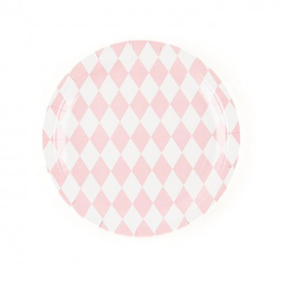 My Little Day Pink diamonds paper plates - set of 8-listing