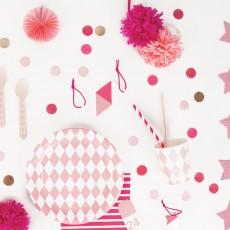My Little Day Platos de cartón rombos rosas - Lote de 8-listing