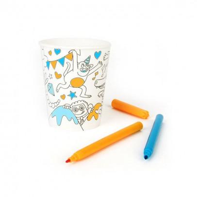 Omy Bicchieri di carta da colorare Omy - Lot da 8-listing