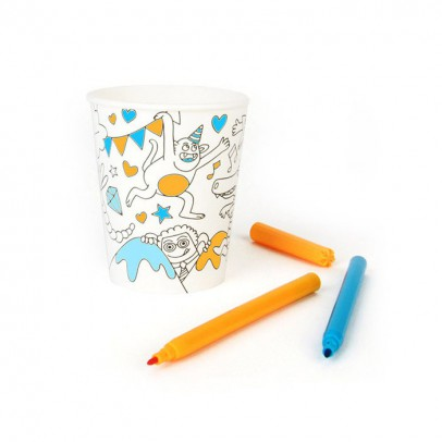 Omy Omy paper cups to colour in -  set of 8-listing