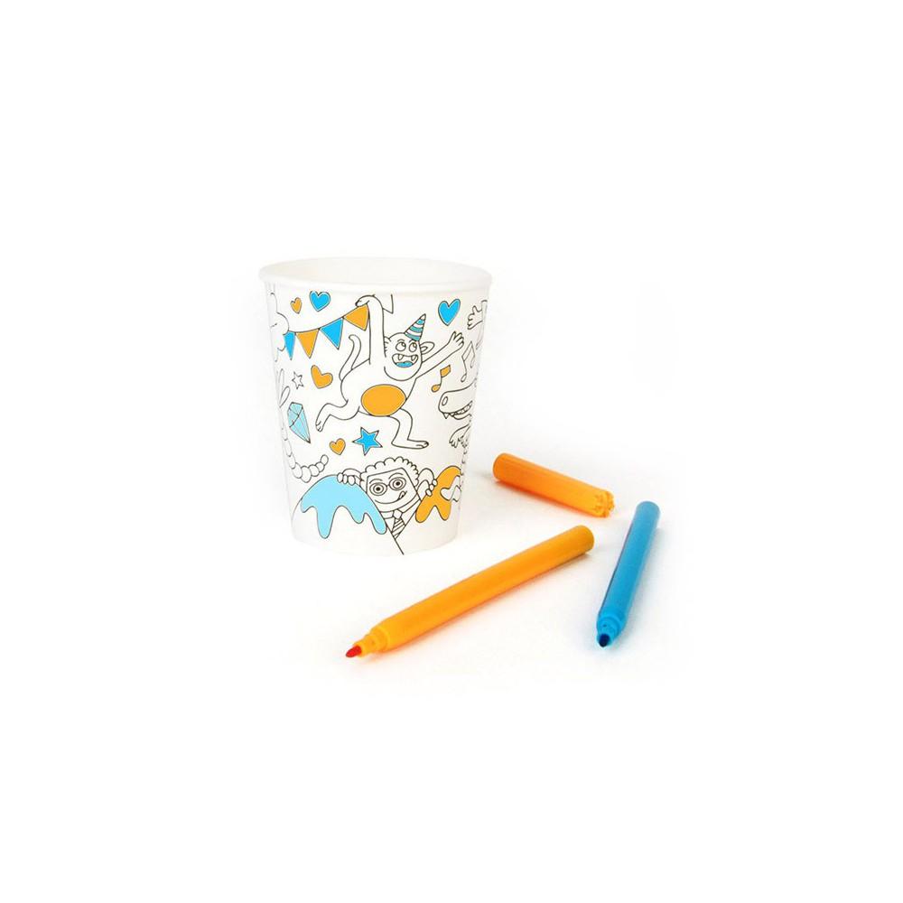 Omy Gobelets en carton à colorier Omy - Lot de 8-product