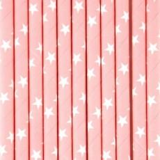 My Little Day Pailles Rose clair et étoiles blanches - Lot de 25-listing