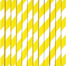 My Little Day Pailles chevrons jaunes - Lot de 25-listing