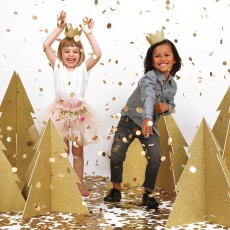 My Little Day Corona in cartone paillettes oro - Set da 8-listing