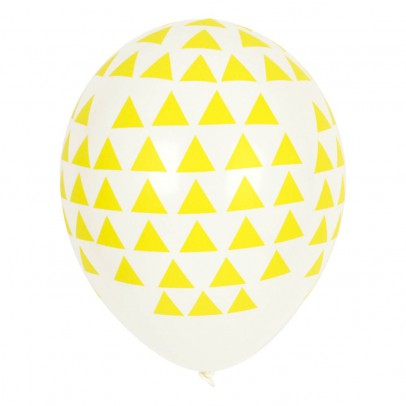 My Little Day Ballons triangles jaunes en latex - Lot de 5-listing
