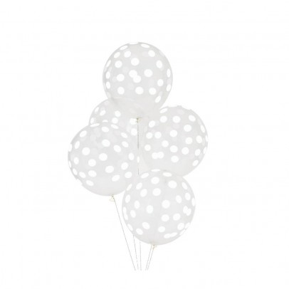 My Little Day Ballons confettis imprimés blanc - Lot de 5-listing