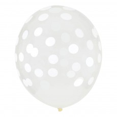 My Little Day Globos confettis estampados blanco - Lote de 5-product