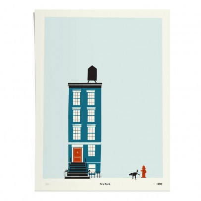 Pleased to meet Poster - New-York 30x40 cm Limited Edition-listing