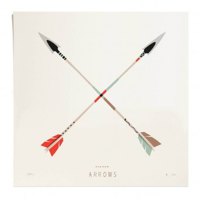 Pleased to meet Poster - Arrows 30x30 cm Limited Edition-listing