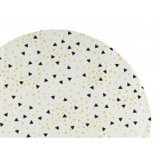 Nobodinoz Spielmatte aus Baumwolle schwarz-gelbe Dreiecke-listing