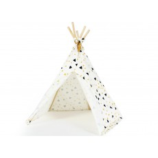 Nobodinoz Cotton Mini Teepee - Yellow and Black Triangles-product