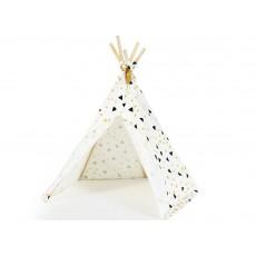 Nobodinoz Tipi mini algodón triángulos amarillo negro-listing