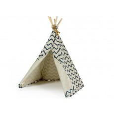 Nobodinoz Mini-Indianerzelt aus Baumwolle Zick-Zack-Muster-listing