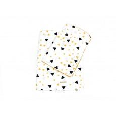 Nobodinoz Parure de lit Vancouver triangles noir jaune-product