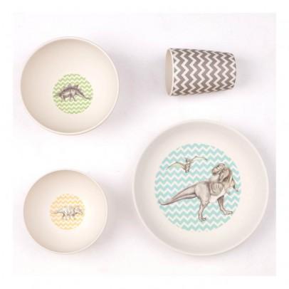 Love Mae Coffret de vaisselle en bambou Dîner de dinosaures-listing