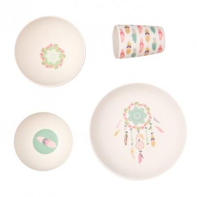 Love Mae Coffret de vaisselle en bambou Dîner de rêves-listing