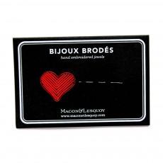 Macon & Lesquoy Barrette Brodée Cœur-listing