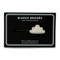 Macon & Lesquoy Barrette Brodée Nuage-listing